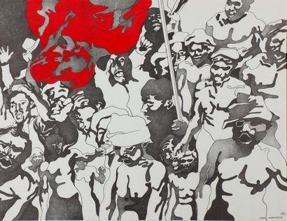 Henri CUECO (1929 - 2017). Manifestation...