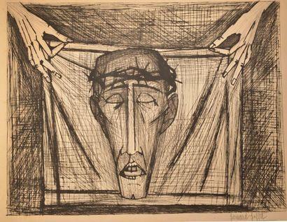 Bernard BUFFET (1928-1999). Le Saint Suaire....