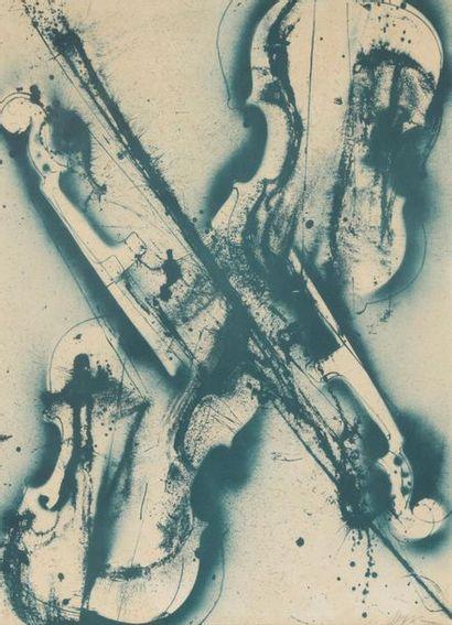 ARMAN (1928-2005). Les violons. Lithographie...