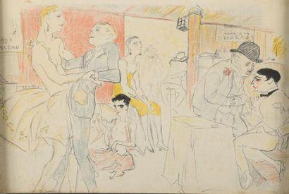 Marcel VERTÈS (1895-1961). Scènes de cabaret...