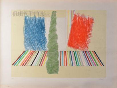 Mario CEROLI (Né en 1938). Identita. Lithographie...