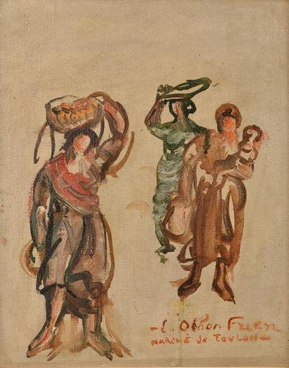 Émile-Othon FRIESZ (1879-1949). Marché de...