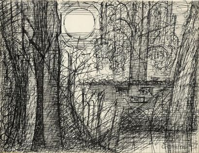 Marcel GROMAIRE (1892-1971). Paysage ensoleillé....