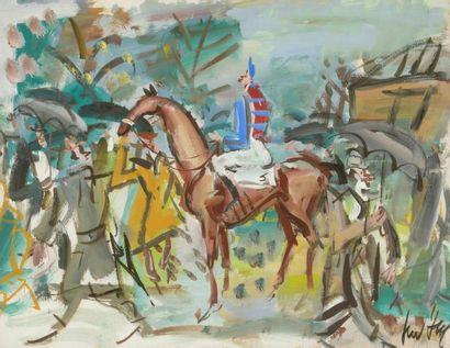 GEN PAUL (1895-1975). Le cavalier. Gouache...