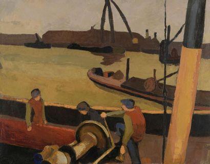 Maurice LE SCOUÉZEC (1881-1940). Le port....