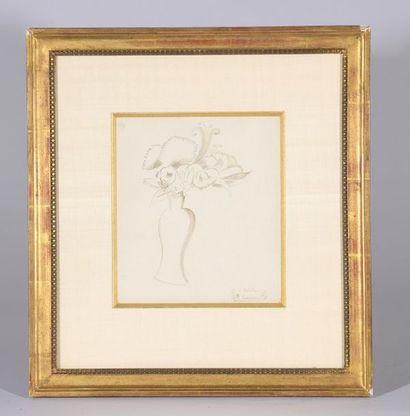 Marie LAURENCIN (1883-1956). Bouquet de fleurs....