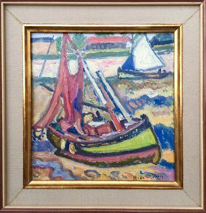 Henri de SAINT-DELIS (1878-1949). Barque...