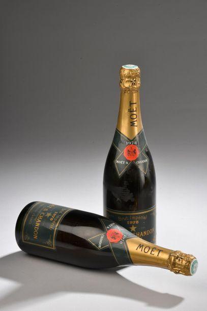 *2 bouteilles CHAMPAGNE Moët Chandon 1978