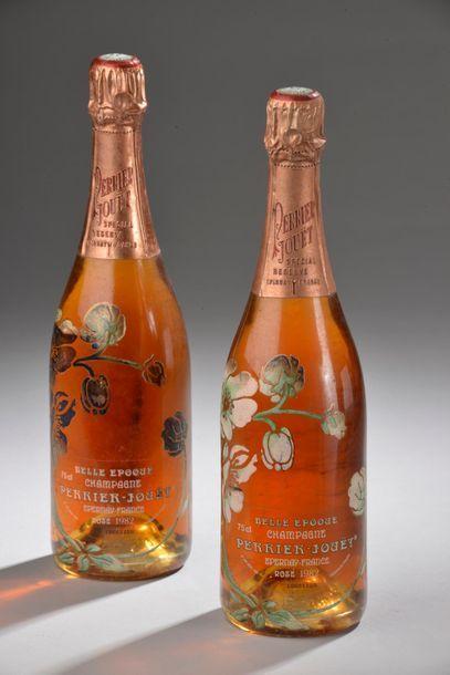 """2 bouteilles CHAMPAGNE """"Belle Époque"""", Perrier-Jouët 1982 (rosé)"""