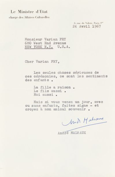 MALRAUX (ANDRÉ) (1901-1976)