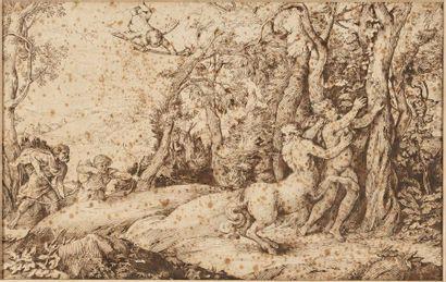 Ecole de Giovanni Benedetto CASTIGLIONE (1609-1664)