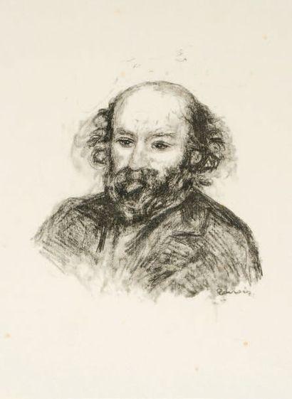 Auguste RENOIR (1841-1919) NON PRESENTE *Portrait de Cézanne Lithographie sur Japon,...
