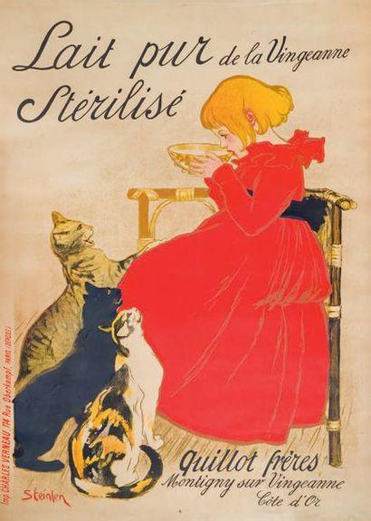 THÉOPHILE-ALEXANDRE STEINLEN Lait pur de la Vingeanne stérilisé, 1894, lithographie,...