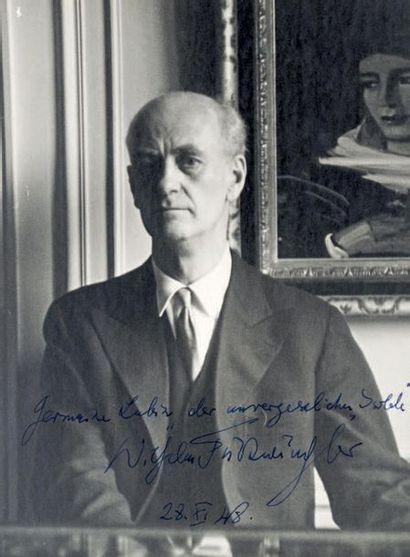 FURTWÄNGLER (Wilhelm), compositeur et chef d'orchestre (1886-1954)