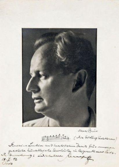 KEMPFF (Wilhelm), pianiste et compositeur (1895-1991)