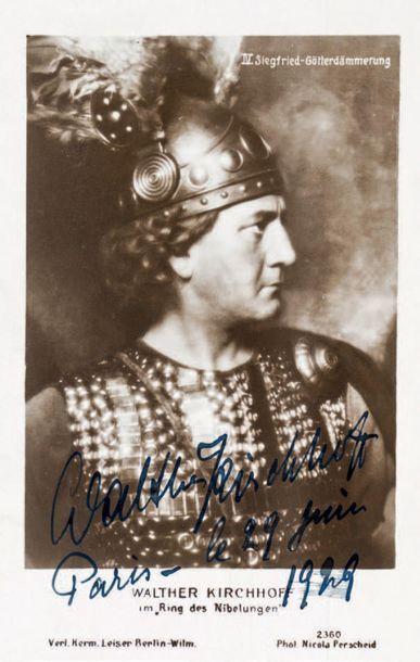 KIRCHHOFF (Walter), ténor allemand (1879-1951)