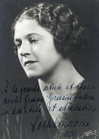 LEHMANN (Lotte), soprano (1888-1976)