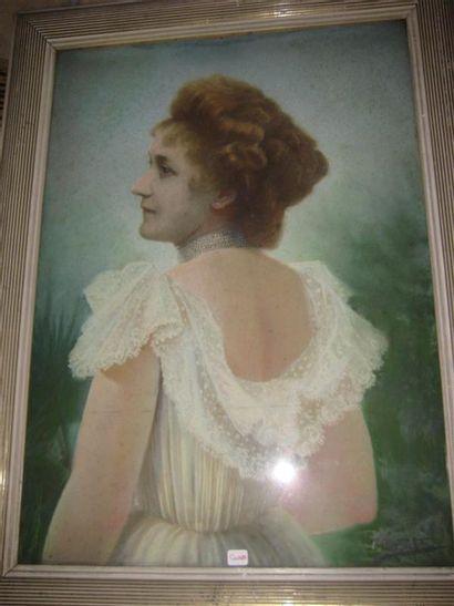 Emile BOULARD (1863-1943)  Portrait de femme...