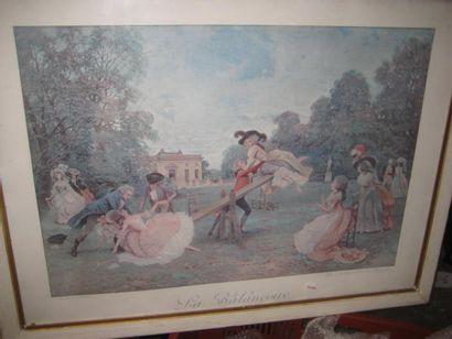 Deux reproductions de gravures couleurs
