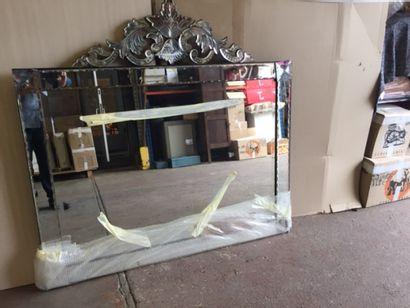 Miroir en verre de Venise rectangulaire à...
