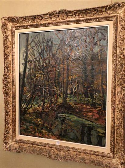 F. LAVAL ( 1886-1966)  Paysage  Huile sur...