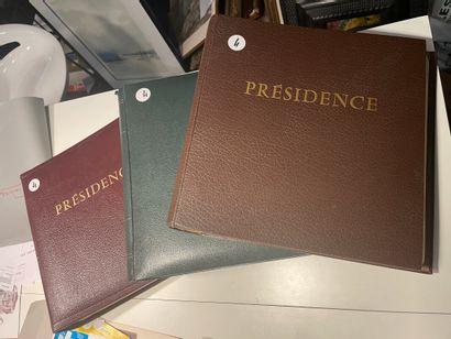 3 albumsPrésidence état neuf TB