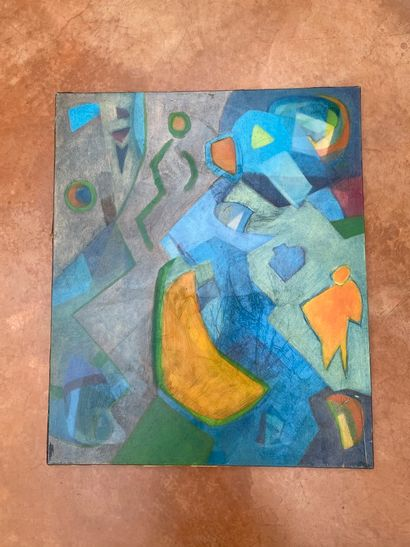 Laurence BESSAS (1962)  Composition  Huile...