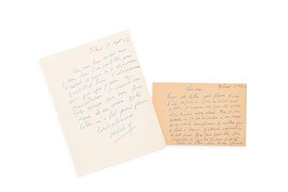 KATEB (Yacine) (1929-1989) 2 documents....