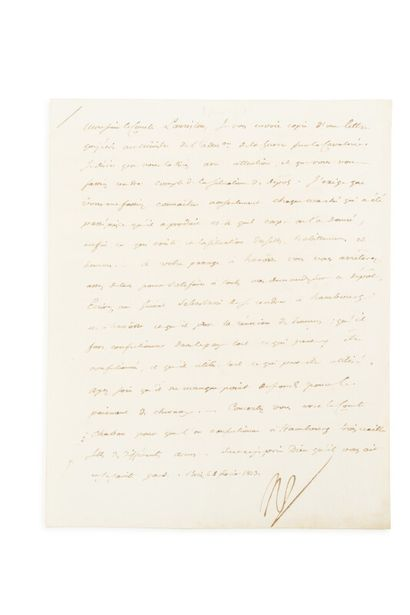 NAPOLEON Ier (1769-1821)  L.S. dictée à Fain...