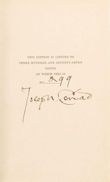 CONRAD (Joseph) (1857-1924)  One Day More....