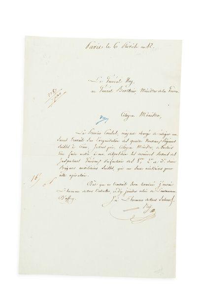 NEY (Michel) (1769-1815)  L.S. au général...