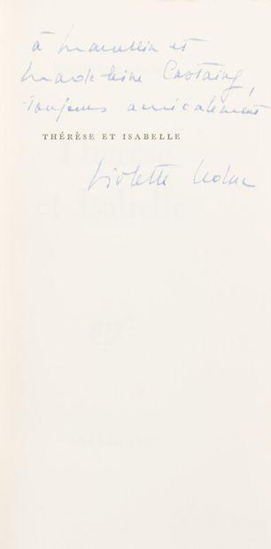 LEDUC (Violette) (1907-1972)  Thérèse et...