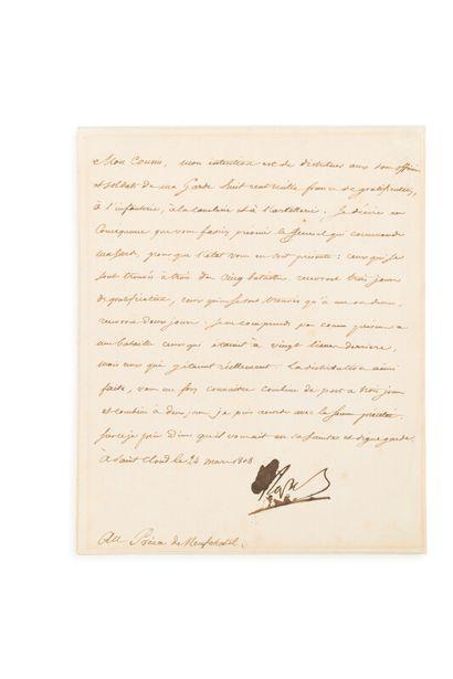 NAPOLEON Ier (1769-1821)  L.S. dictée à Méneval...