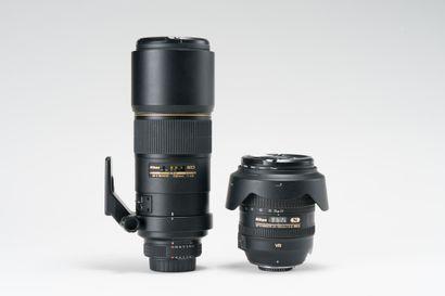 Appareil photographique, deux objectifs Nikon....