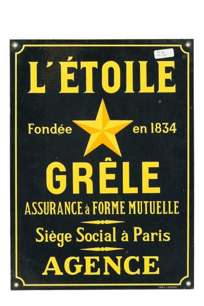 L'ÉTOILE GRÈLE Assurance à forme mutuelle,...