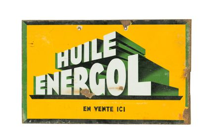 ENERGOL HUILE (Automobile).  Émaillerie Vitracier,...