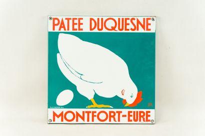 PATEE DUQUESNE Montfort-Eure.  Signée des...