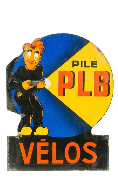 PLB Pile vélo.  Émail graph, Bruxelles, Belgique,...
