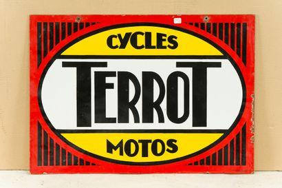TERROT Cycles Motos.  Émaillerie Alsacienne Strasbourg, vers 1935.  Plaque émaillée...