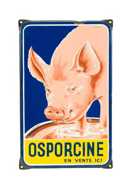 OSPORCINE, (Aliment pour les porcs).  Signée...