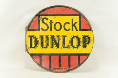 DUNLOP Stock (Pneu).  Sans mention d'émaillerie,...