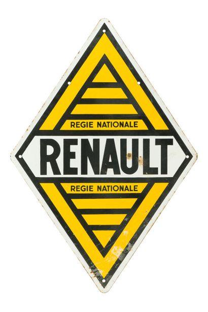RENAULT Régie Nationale.  Sans mention d'émaillerie,...