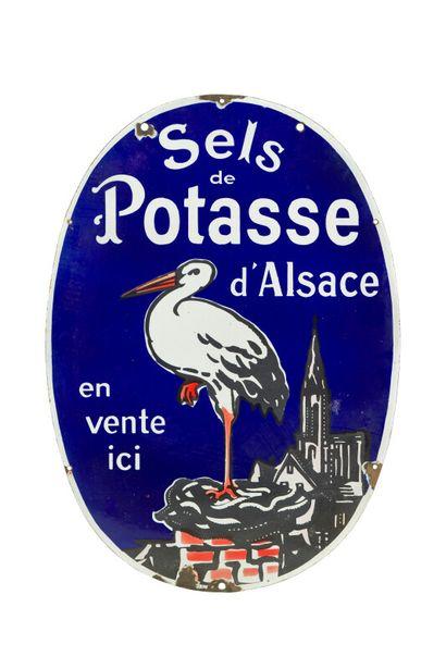 SELS DE POTASSE D'ALSACE.  Sans mention d'émaillerie,...
