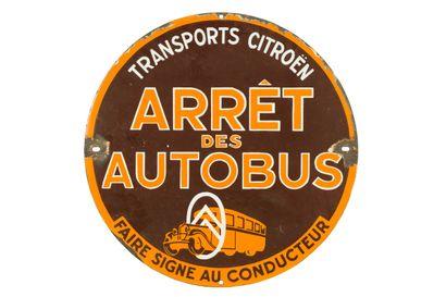 ARRÊT des AUTOBUS Transports CITROËN.  Sans...