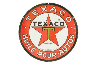 TEXACO Huile pour autos.  Sans mention d'émaillerie,...