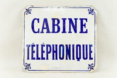 CABINE TÉLÉPHONIQUE  Émaillerie Edmond Jean,...
