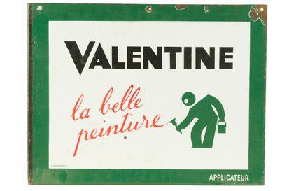 VALENTINE, La belle peinture.  Émaillerie...