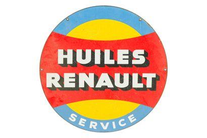 RENAULT Huiles Service.  Émail Vitracier,...