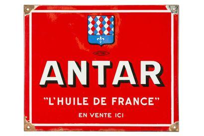 ANTAR L'huile de France (Automobile).  Émaillerie...
