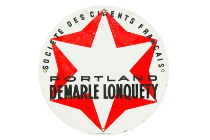 DEMARLE LONQUETY PORTLAND, ciment.  Émaillerie...
